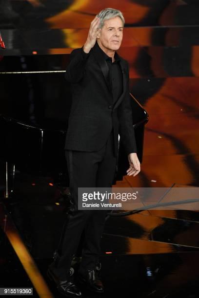 Claudio Baglioni attends the second night of the 68. Sanremo Music Festival on February 7, 2018 in Sanremo, Italy.
