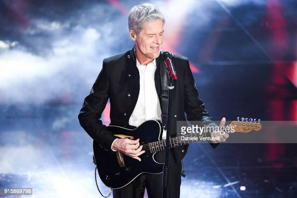 Claudio Baglioni attends the third night of the 68. Sanremo Music Festival on February 8, 2018 in Sanremo, Italy.