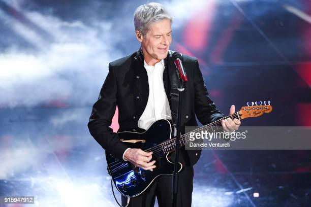Claudio Baglioni attends the third night of the 68 Sanremo Music Festival on February 8 2018 in Sanremo Italy
