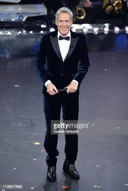 Claudio Baglioni on stage during the third night of the 69th Sanremo Music Festival at Teatro Ariston on February 07 2019 in Sanremo Italy