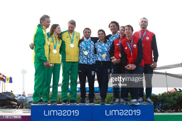 Claudio Bieckarck Isabel Ficker and Gunnar Ficker of Brazil Javier Conte Ignacio Giammona and Paula Salerno of Argentina and Felipe Robles Andres...