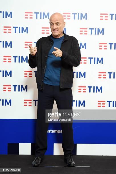 Claudio Bisio attends the 69 Sanremo Music Festival press conference at Teatro Ariston on February 04 2019 in Sanremo Italy