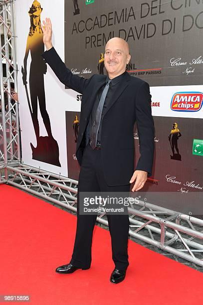 Claudio Bisio attends the 'David Di Donatello' movie awards at the Auditorium Conciliazione on May 7 2010 in Rome Italy