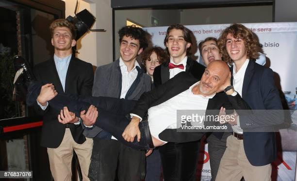 Claudio Bisio Nicolo Folin Gaddo Bacchini Massimo de Laurentis Matteo Oscar Giuggioli Nicola Pitis and Gabriele Di Grali attend 'Gli Sdraiati'...