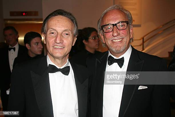Claudio Bisogniero Italy's ambassador to the US left and designer Roberto Coin attend the Phillips Collection gala in Washington DC US on Friday May...