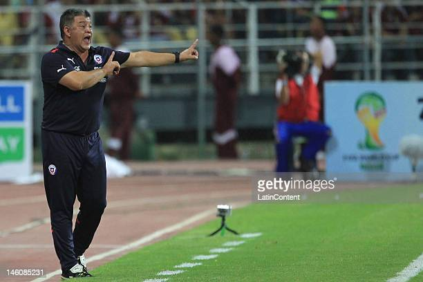Claudio Borghi Chilean coach in action during the match between Venezuela and Chile as part of the sixth round of the South American qualifiers for...