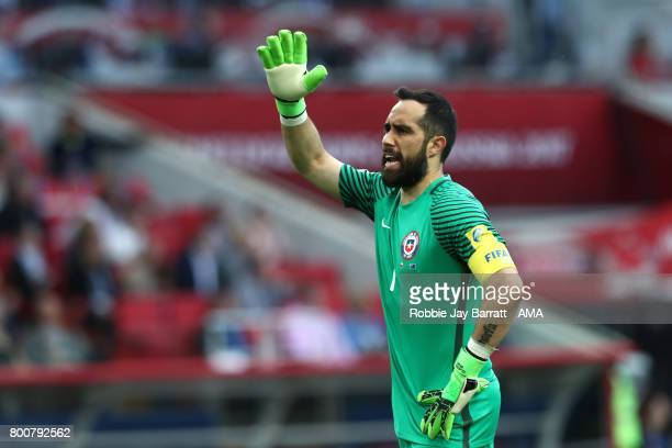 e52ce000a51 Claudio Bravo of Chile reacts during the FIFA Confederations Cup Russia  2017 Group B match between