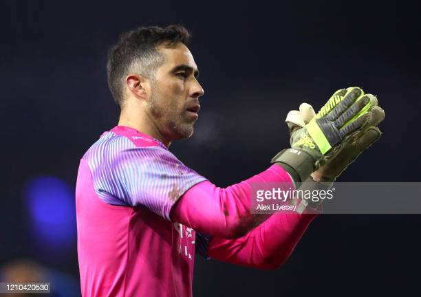 Claudio Bravo of Manchester City applauds fans after the FA Cup Fifth Round match between Sheffield Wednesday and Manchester City at Hillsborough on...