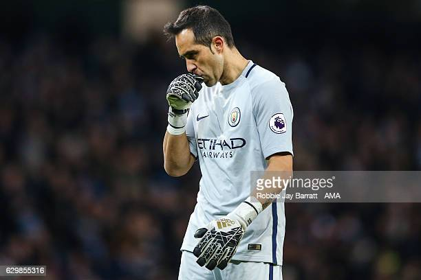 Claudio Bravo of Manchester City during the Premier League match between Manchester City and Watford at Etihad Stadium on December 14 2016 in...