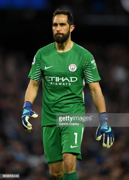 Claudio Bravo of Manchester City during the Premier League match between Manchester City and Brighton and Hove Albion at Etihad Stadium on May 9 2018...