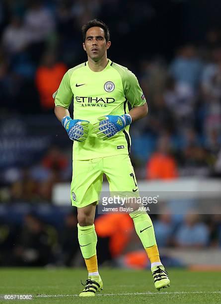 Claudio Bravo of Manchester City during the UEFA Champions League match between Manchester City and VfL Borussia Moenchengladbach at Etihad Stadium...