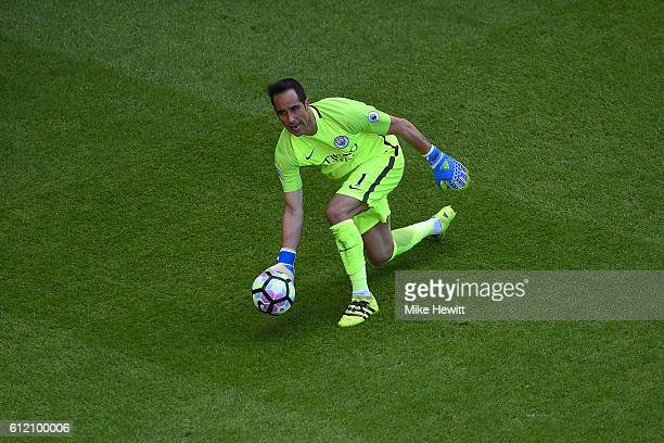 Claudio Bravo of Manchester City in action during the Premier League match between Tottenham Hotspur and Manchester City at White Hart Lane on...