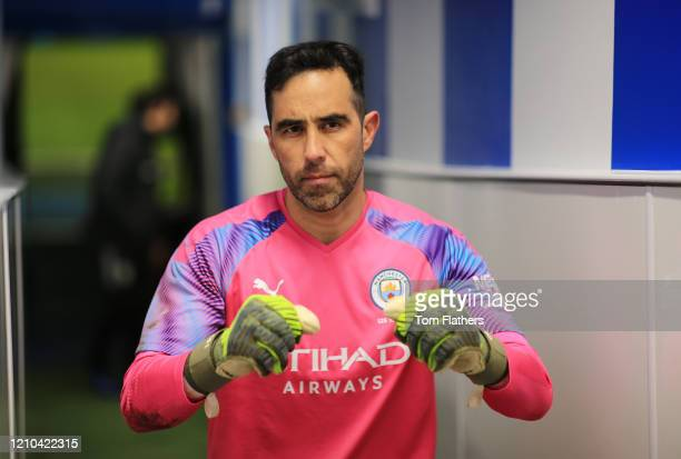 Claudio Bravo of Manchester City walks down the tunnel after the FA Cup Fifth Round match between Sheffield Wednesday and Manchester City at...