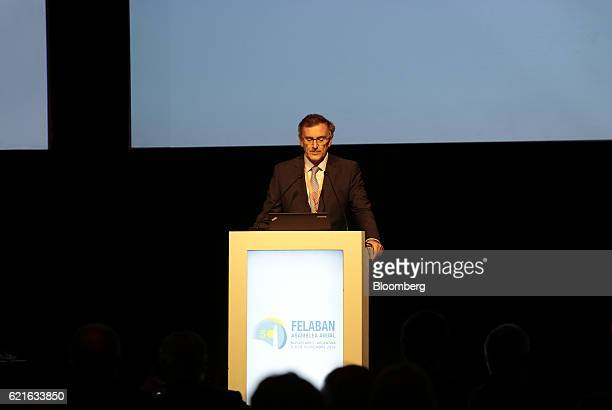 Claudio Cesario president of the Argentine Bankers Association pauses during the 50th Anniversary Federation of Latin American Banks Annual Assembly...