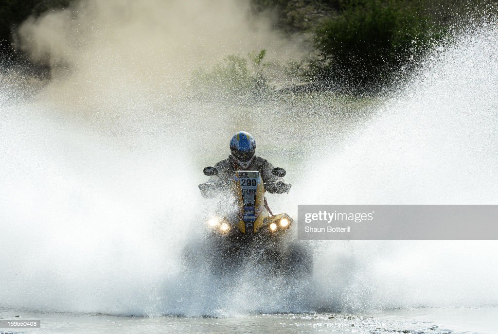 Claudio Clavigliasso of team CAN-AM ATV Argentina competes in stage 10 from Cordoba to La Rioja during the 2013 Dakar Rally on January 15, 2013 in Cordoba, Argentina.