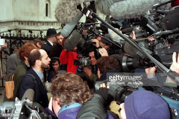 Claudio Cordone Program Director for Amnesty International outside the High Court after Mr Justice Maurice Kay rejected their application for...