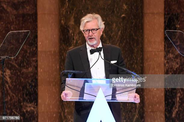 Claudio Del Vecchio accepts the American Heritage Award on behalf of Brooks Brothers onstage at the 22nd Annual Accessories Council ACE Awards at...