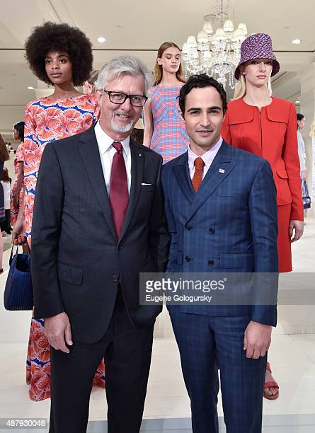 Claudio del Vecchio and Zac Posen attend the Brooks Brothers SS 2016 Presentation With Zac Posen on September 12 2015 in New York City