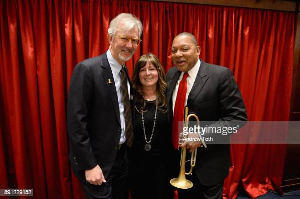 Claudio Del Vecchio Debra Del Vecchio and Wynton Marsalis attend as Brooks Brothers celebrates the holidays with St Jude Children's Research Hospital...