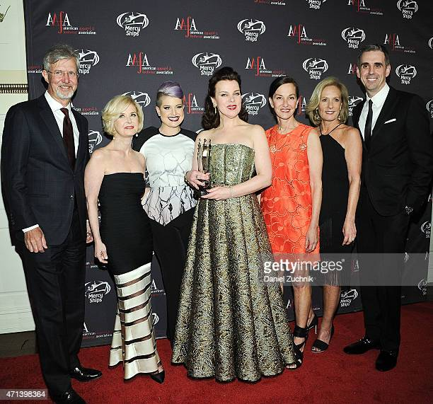 Claudio Del Vecchio Juanita D Duggan Kelly Osbourne Debi Mazar Cynthia Rowley Diane Sullivan and Mark Derbyshire attend the AAFA American Image...