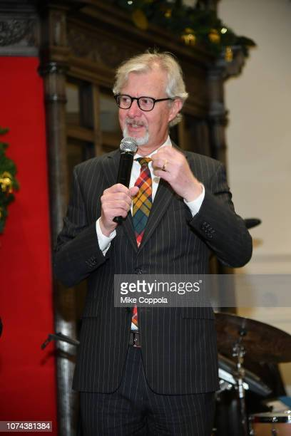 Claudio Del Vecchio speaks onstage during the Brooks Brothers And St Jude Children's Research Hospital Annual Holiday Celebration In New York City on...
