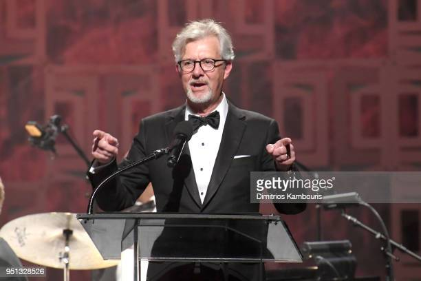 Claudio Del Vecchio speaks onstage during the Brooks Brothers Bicentennial Celebration at Jazz At Lincoln Center on April 25 2018 in New York City