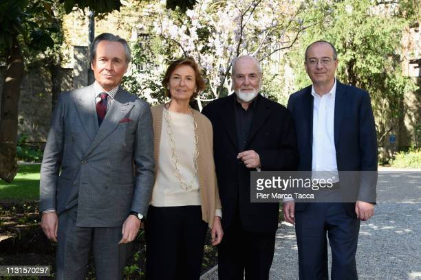 Claudio Ferraris Michelangelo Pistoletto Anna Zegna Michelangelo Pistoletto and Alberto Fiz attend the Exhibition Press Conference 'Di Padre on...
