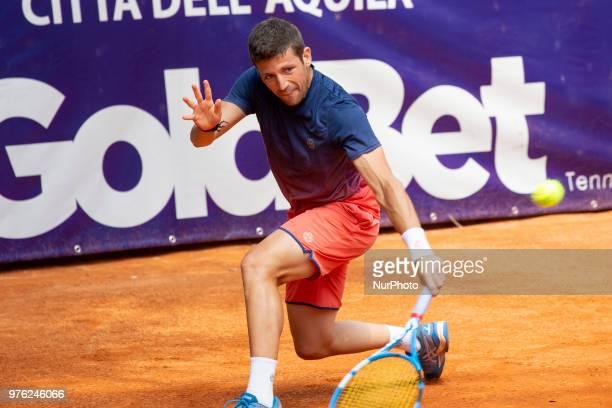 Claudio Fortuna during match between Daniel Dutra Da Silva and Claudio Fortuna during day 1 at the Interzionali di Tennis Citt dell'Aquila in...