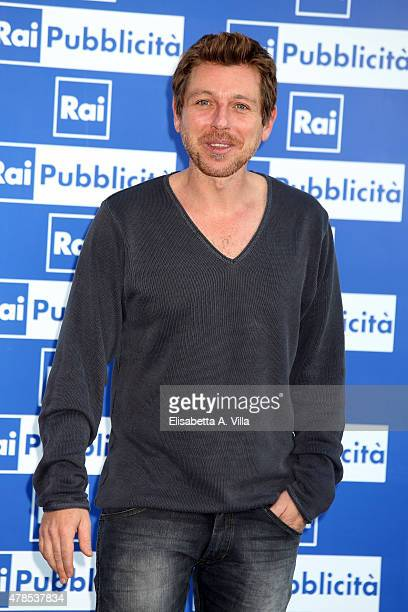 Claudio Gioe attends RAI Yearly TV Show Schedule at Villa Piccolomini on June 25 2015 in Rome Italy