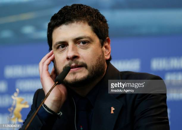 "Claudio Giovannesi attends a press conference after winning Silver Bear for Best Screenplay with ""La Pranza dei bambini"" during the 69th Berlinale..."