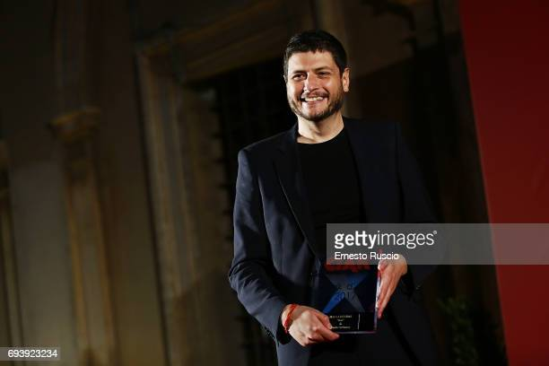 Claudio Giovannesi recives the Ciak D'Oro 2017 award at Link Campus University on June 8 2017 in Rome Italy