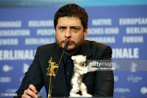 Claudio Giovannesi winner of the Silver Bear for Best Screenplay attends the award winners press conference during the 69th Berlinale International...