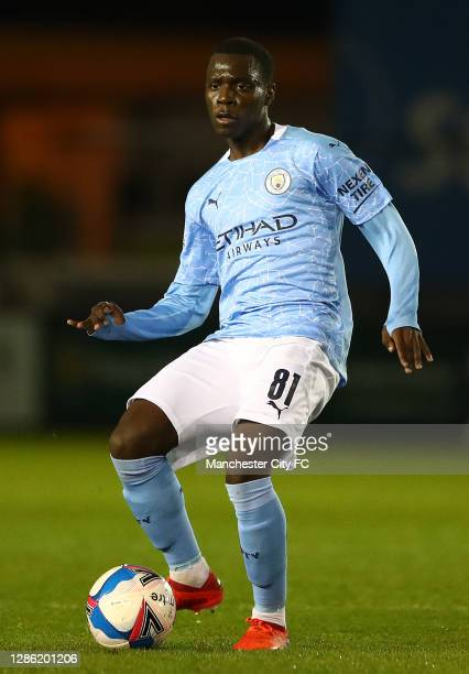 Claudio Gomez of Manchester City U21 in action during the EFL Trophy match between Lincoln City and Manchester City U21 at Sincil Bank Stadium on...