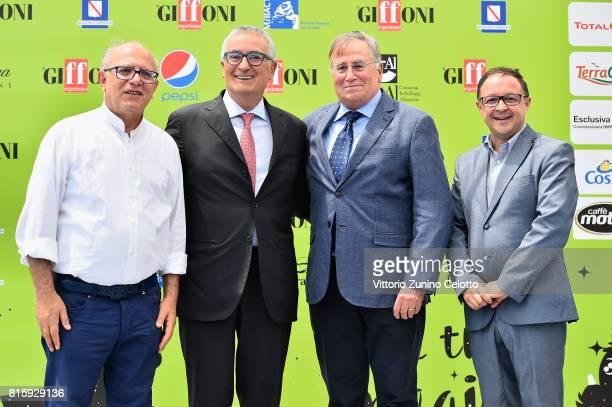 Claudio Gubitosi Franco Roberti Corrado Lembo Piero Rinaldi attend Giffoni Film Festival 2017 on July 17 2017 in Giffoni Valle Piana Italy