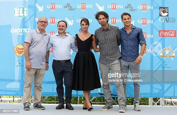 Claudio Gubitosi Lea Michele Manlio Castagna and Jacopo Gubitosi attend Giffoni Film Festival photocall on July 20 2014 in Giffoni Valle Piana Italy