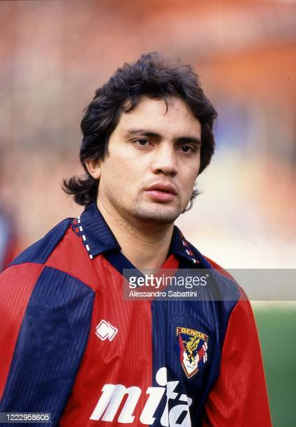 Claudio Ibrahim Vaz Leal of Genoa looks on during the Serie A 1991-92, Italy.