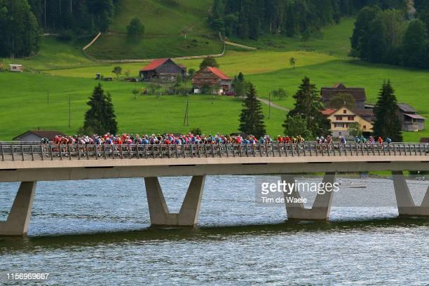 Claudio Imhof of Switzerland and Team Switzerland King of Mountain Jersey / Lukas Postlberger of Austria and Team BoraHansgrohe / Peloton / Bridge /...