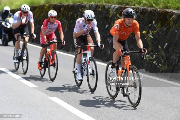 Claudio Imhof of Switzerland and Team Switzerland, Rémy Rochas of France and Team Cofidis, Mathias Frank of Switzerland and AG2R Citröen Team &...