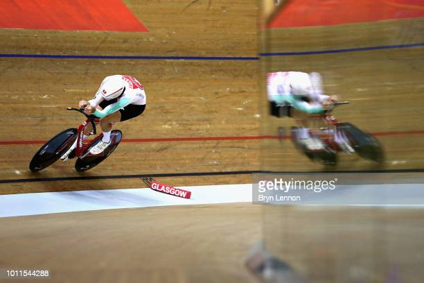 Claudio Imhof of Switzerland competes in the Bronze final of the Men's 4000m Individual Pursuit during the track cycling on Day Four of the European...