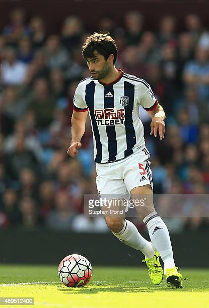 Claudio Jacob of West Bromwich Albion during the Barclays Premier League match between Aston Villa and West Bromwich Albion at Villa Park stadium on...