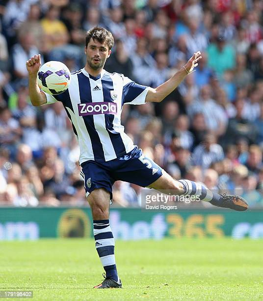 Claudio Jacob of West Bromwich controls the ball during the Barclays Premier League match between West Bromwich Albion and Swansea City at The...