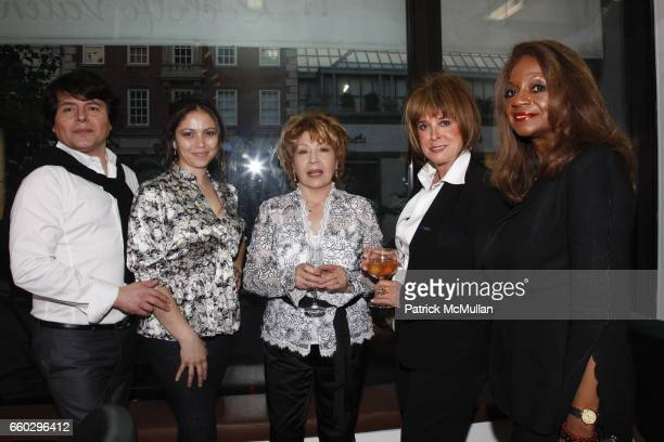 Claudio Juliet Pia Carrello Joan Jedell and Eugenia Foxworth attend RODOLFO VALENTIN'S Salon Spa Preview Party at 694 Madison Avenue on June 15 2009...