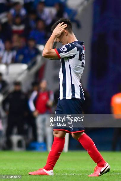 Claudio Kranevitter of Monterrey gestures during the 9th round match between Monterrey and Atletico San Luis as part of the Torneo Clausura 2020 Liga...