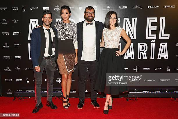 Claudio Lafarga Stephanie Sigman director Jesus Magana Vazquez and Barbara Mori attend the 'Alicia En El Pais De Maria' Mexico City premiere red...