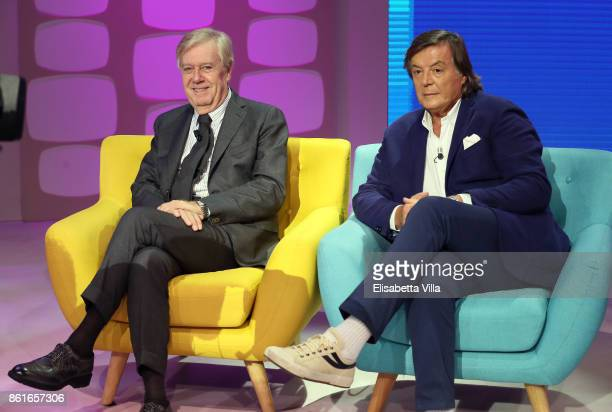 Claudio Lippi and Adriano Panatta attend Domenica In TV Show on October 15 2017 in Rome Italy