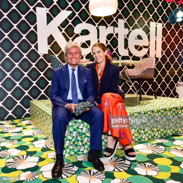 Claudio Luti and JJ Martin attend La DoubleJ x Kartell at Kartell Flagship Store New York on May 19 2018 in New York City