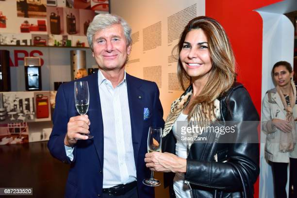 Claudio Luti and Yudelka Checo attend Kartell Tribute to Componibili 50th Anniversary at Kartell Flagship Store New York on May 22 2017 in New York...