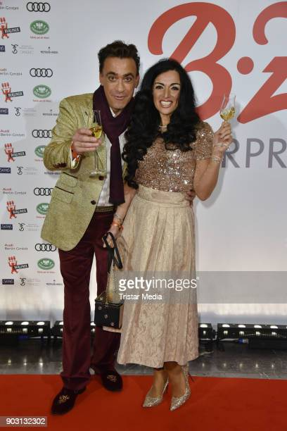 Claudio Maniscalco and Cara Ciutan attend the BZ Kulturpreis 2018 at Staatsoper im Schiller Theater on January 9 2018 in Berlin Germany