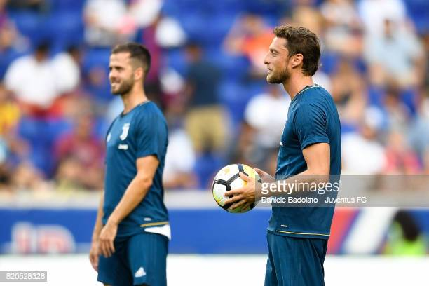 Claudio Marchisio at a training session during the Juventus Summer Tour on July 21 2017 in New York City