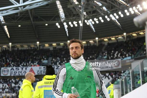 Claudio Marchisio before the Serie A football match between Juventus FC and Atalanta BC at Allianz Stadium on 14 March 2018 in Turin Italy